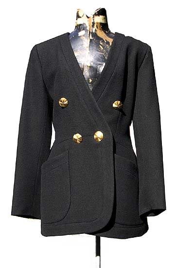 vintage Yves Saint Laurent navy wool jacket