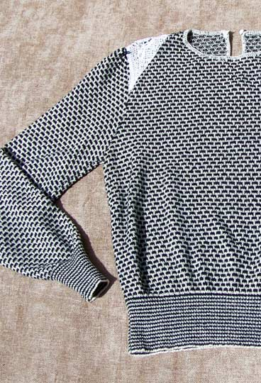 Vintage Brick-patterned sweater, late 1970s to early 1980s | deadlyvintage.com :  indie grey vintage sweater
