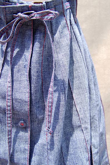 vintage 70s preppy chambray skirt