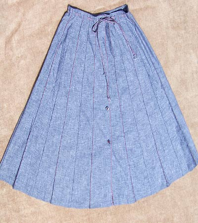 vintage 70s preppy pleat skirt