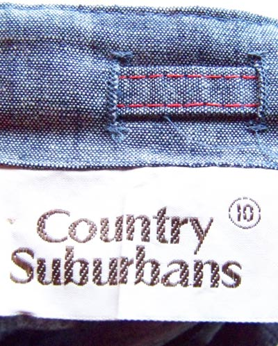 vintage 70s Country Suburbans label