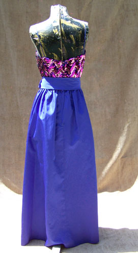 vintage 70s Miss Elliette purple gown