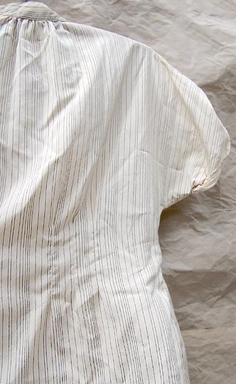 vintage early 80s fitted pinstripe top