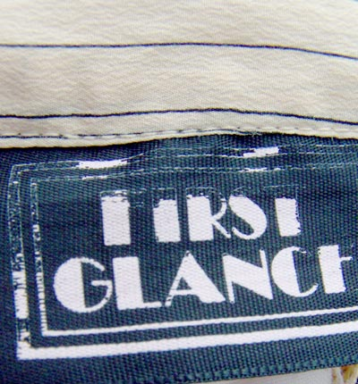 vintage 70s First Glance label