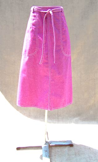 vintage 70s purple wrap skirt