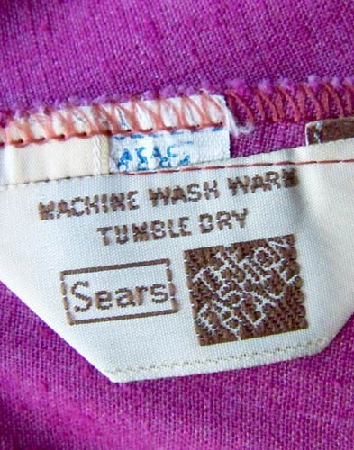 vintage 70s Sears label