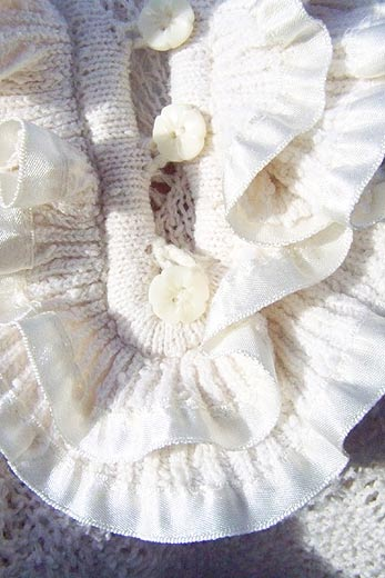 vintage 70s ruffled sweater