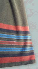 vintage 70s stripe skirt