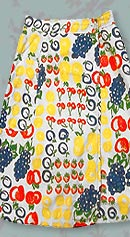 70s fruit skirt