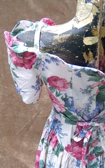 vintage 80s retro floral tea gown