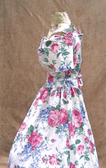 vintage 80s 40s-inspired floral tea gown