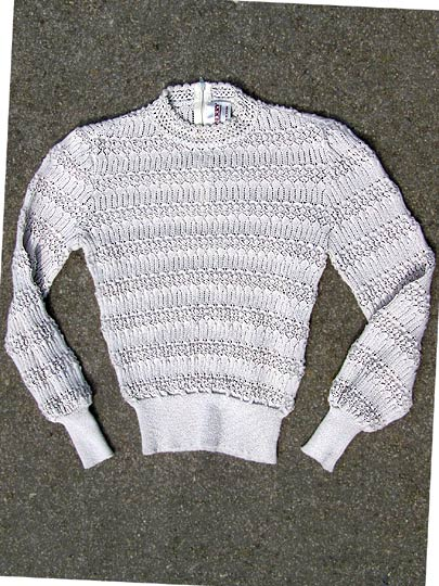 vintage 80s Castleberry pointelle sweater