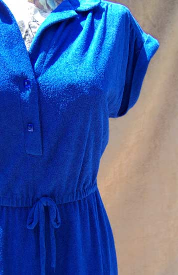 vintage 70s terry dress