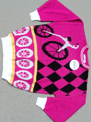 vintage 80s bicycle slouch sweater
