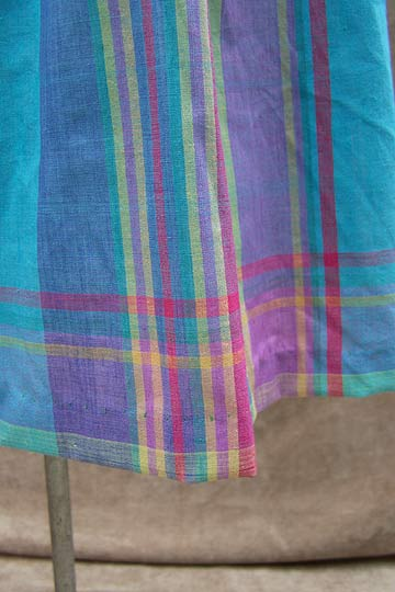 vintage 80s preppy madras cotton skirt