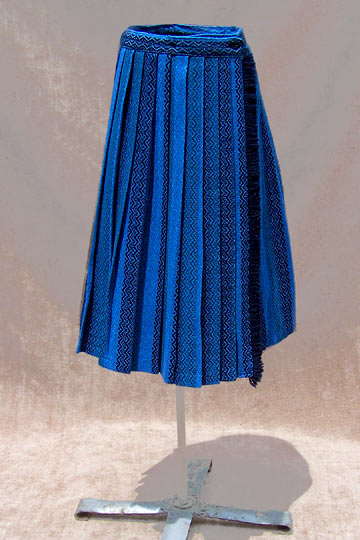 vintage 60s ethnic pleat skirt