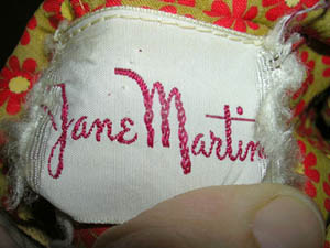 vintage 60s Jane Martin label