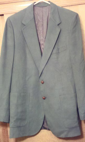 Vintage designer Lanvin mens suede blazer, late 1970s to early 1980s | deadlyvintage.com :  jacket vintage green clothing