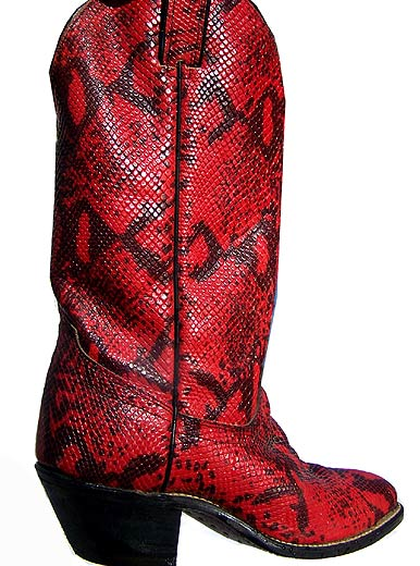 red Laredo cowboy boots