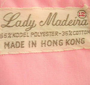 70s Lady Madeira label