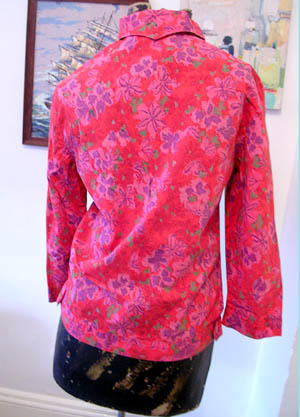 50s red cotton shirt