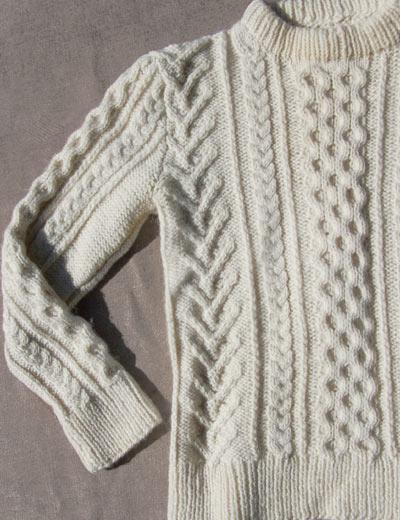 Fisherman Knit Sweater Patterns Free : Vintage Hand knit Aran sweater, free shipping deadlyvintage.com