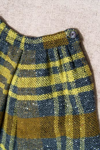 vintage 30s tweed skirt