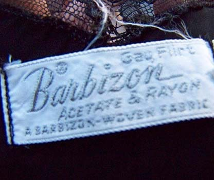 vintage 40's Barbizon gay flirt label