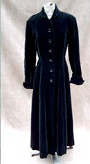 vintage 40s new look velvet coat