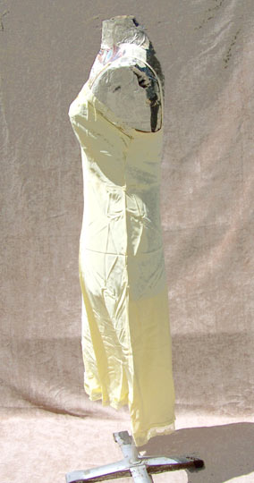 vintage 40s Perlcrest yellow rayon slip