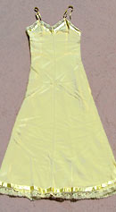 vintage 40s yellow rayon lace slip