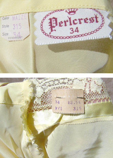vintage 40s Perlcrest labels - tags