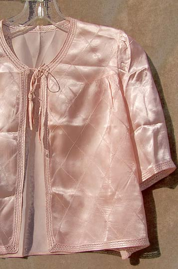 vintage 40s rayon satin bed jacket