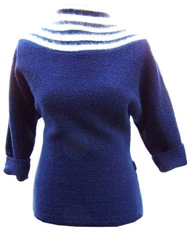40's navy sweater