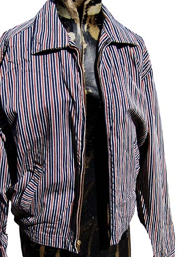 50s gabardine stripe jacket