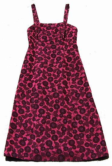 vintage 50s fitted rose print dress