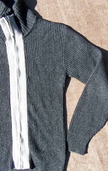 vintage 50s two-tone sweater