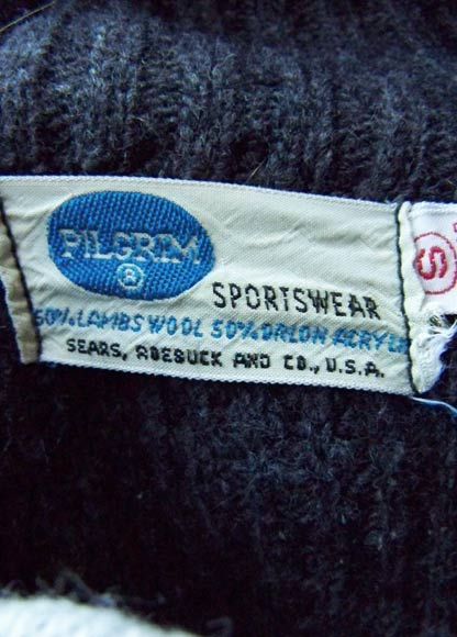 vintage 50s Sears 'Pilgrim' label
