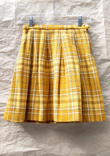 Vintage Pandora tweed mini-skirt, late 1950s to mid 1960s | free shipping | deadlyvintage.com :  wool pleat mod dress