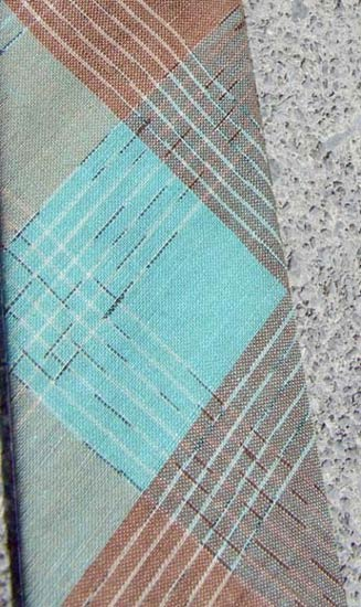 vintage 50s Dan River plaid tie