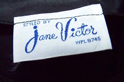 vintage 50s Jane Victor label
