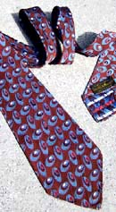 vintage 40s patterned wide tie