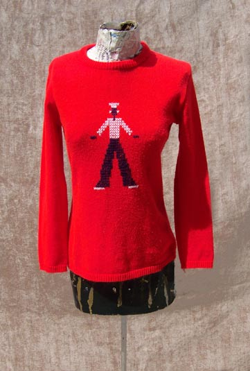 vintage 60s kitschy sweater