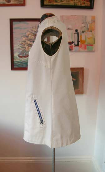 vintage 60s white stag tunic jacket