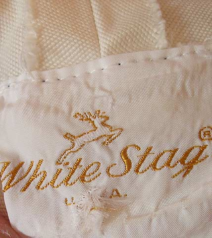 vintage mid 60s white stag label