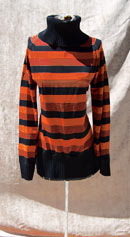 vintage 60s cowl-neck top