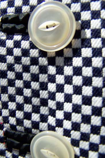 vintage 60s checked a-line dress