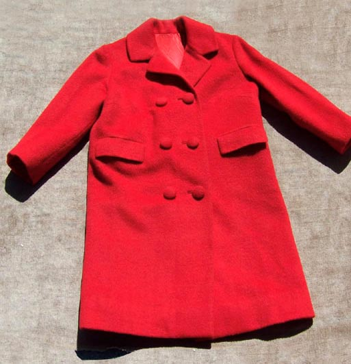 vintage 50s red wool coat