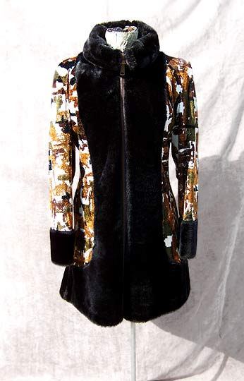 Vintage mod tapestry carpet coat, late 1950s to mid 1960s | free shipping | deadlyvintage.com :  carpet dress brown vintage