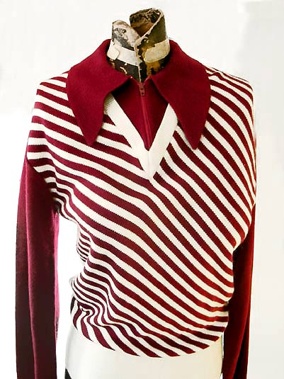 vintage 70s swinger style sweater
